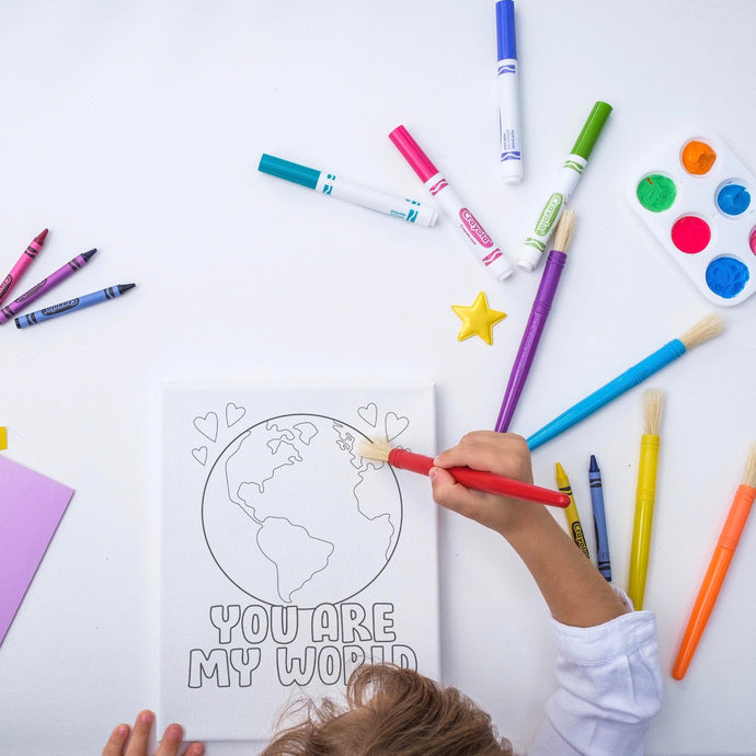 COLORING A KINDER WORLD FOR KIDS