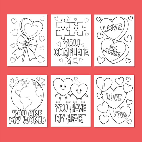 LOVE Bundle! Color-In Greeting Cards