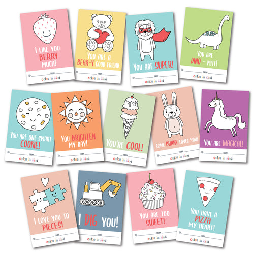 COLOR GRAMS - Valentine's Day Color-In Mini Cards!