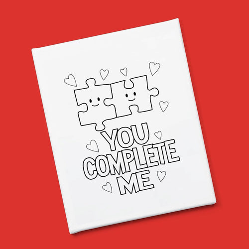 """You Complete Me"" Canvas & Paint Kit"