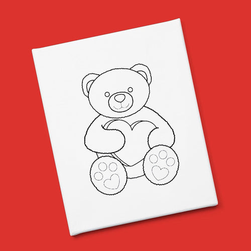 """I Love You Bear-Y Much"" Canvas & Paint Kit"
