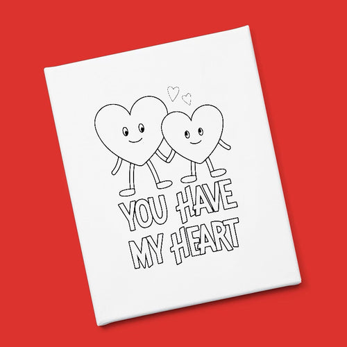"""You Have My Heart"" Canvas & Paint Kit"