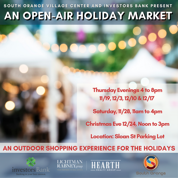 Open-Air Holiday Market in South Orange