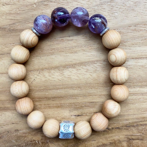 Super Seven and Sandalwood Bracelet