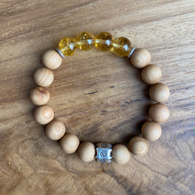 Load image into Gallery viewer, Citrine and Sandalwood Bracelet