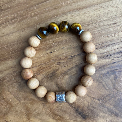Tiger Eye and Sandalwood Bracelet ~ On Sale!
