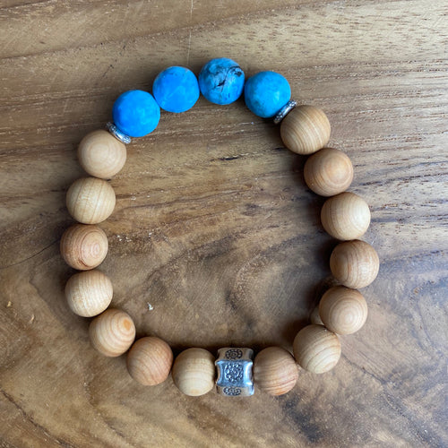Apatite and Sandalwood Bracelet~ Buy One Get One Free!