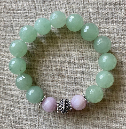 The Lynne: Aventurine and Kunzite Bracelet ~ On Sale!