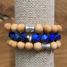 Load image into Gallery viewer, Lapis Lazuli Star Faceted  Bracelet