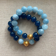 Load image into Gallery viewer, The Delphine: Aquamarine and Teal Jade Bracelet