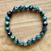 Load image into Gallery viewer, Kambaba Jasper Star Faceted Bracelet