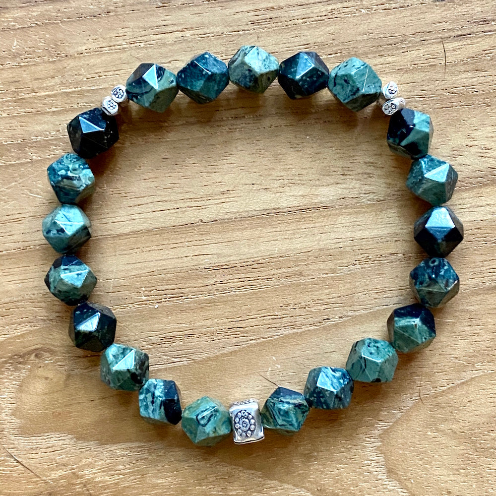 Kambaba Jasper Star Faceted Bracelet