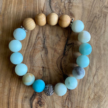 Load image into Gallery viewer, Amazonite and Sandalwood Bracelet Set ~ Save $40 off Set!
