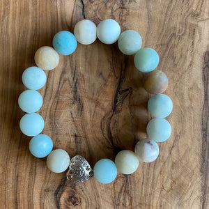 Amazonite and Sandalwood Bracelet Set ~ Save $40 off Set!