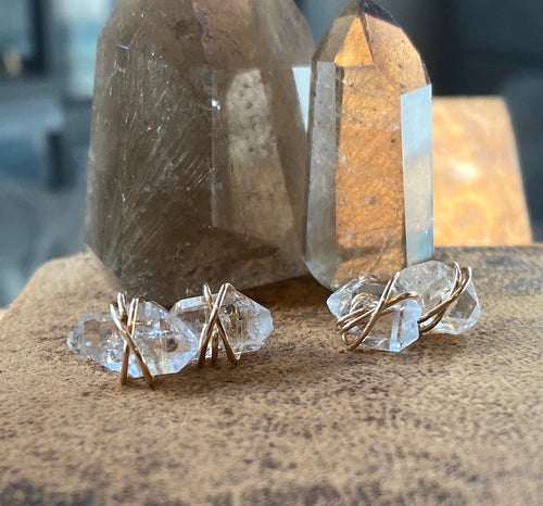 Herkimer Diamond Earrings Studs