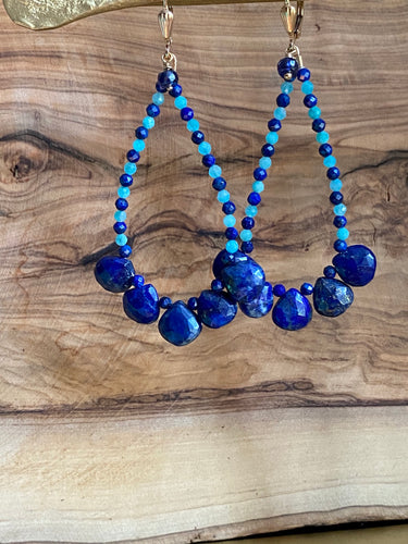 Lapis Lazuli Dangling Earrings ~ ON SALE!