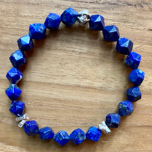 Lapis Lazuli Star Faceted Bracelet ~ 20% Off BFCM SALE!