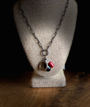 Load image into Gallery viewer, Rouge & Noir: Charm Pendant Necklace