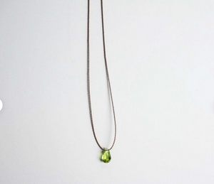 Simple Peridot Necklace
