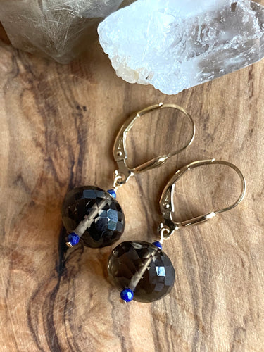 Smoky Quartz Earrings ~ 20% Off BFCM SALE!