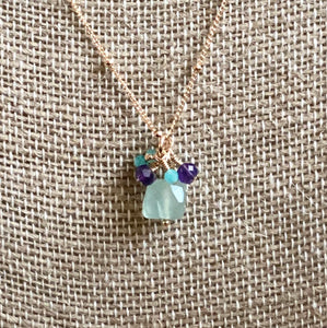 Trio of Semi-Precious Stones Necklace