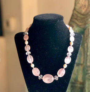 One-Of-A-Kind Rose Quartz Necklace