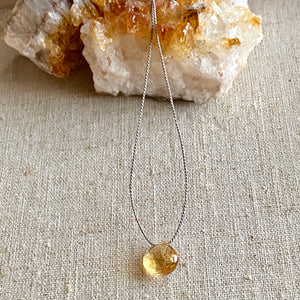 Simple Citrine Necklace