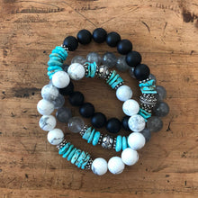 Load image into Gallery viewer, Arizona Turquoise Santa Fe Bracelet Stack