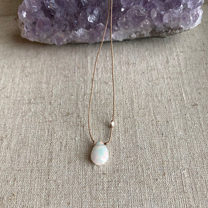 Simple Opal Necklace