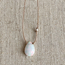 Load image into Gallery viewer, Simple Opal Necklace