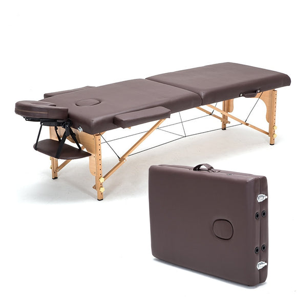 A1 Foldable Spa Massage Tables with Headrest&armrest Salon Furniture Wooden Portable Beauty Bed 60cm Width 250kg Bearing - makofis