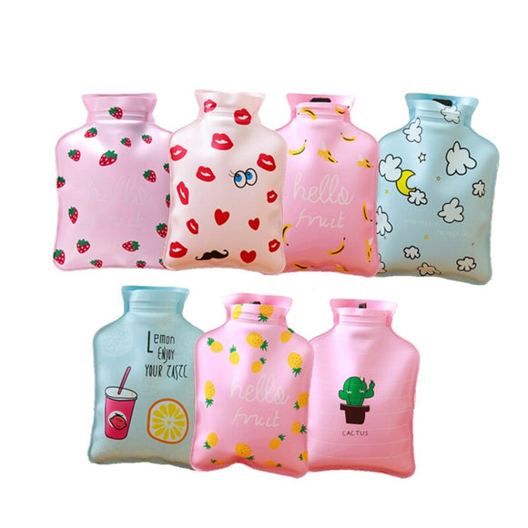 Mini Small Cartoon Portable Hot Water Bag Water Injection Storage Bag Hand Warm Water Bottle Cute Hot Water Bottles 9 styles - makofis