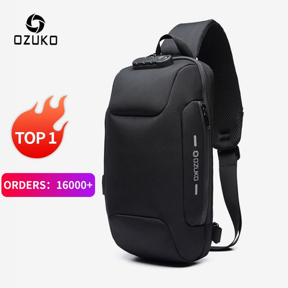Multifunction Crossbody Bag for Men Anti-theft Shoulder Messenger Bags Male Waterproof Short Trip Chest Bag Pack - makofis