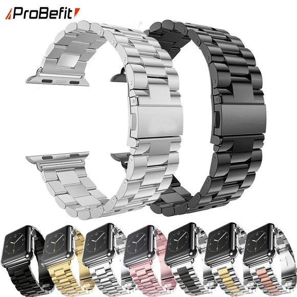 ProBefit Stainless Steel Strap For Apple Watch 42mm 38mm 1/2/3/4 Metal Watchband Bracelet Band for iWatch Series 4 5 44mm 40mm - makofis