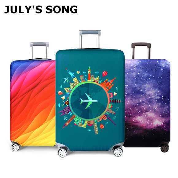 Thicker Travel Luggage Protective Cover Suitcase Case Travel Accessorie Baggag Elastic Luggage Cover Apply to 18-32inch Suitcase - makofis