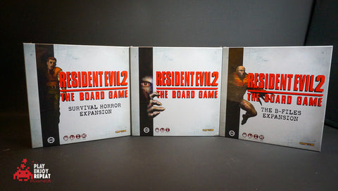 Resident Evil 2: The Board Game CORE B-Files and Survival Horror Expansion Bundle