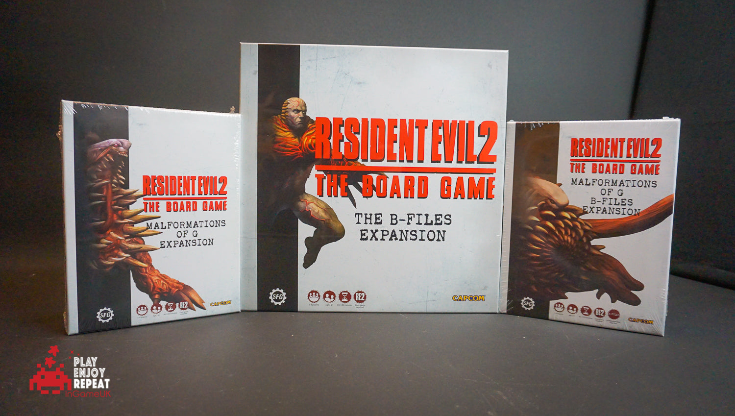 Resident Evil 2: The Board Game B-Files and Malformations of G / B-Files Expansions Bundle