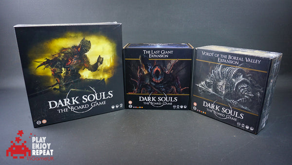 Dark Souls The Board Game, The Last Giant Expansion and The Vordt of the Boreal Valley Expansion