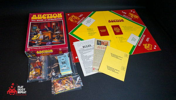 1989 Auction The Game of Acquisition Avalon Hill Trading Game VGC FREE UK PP