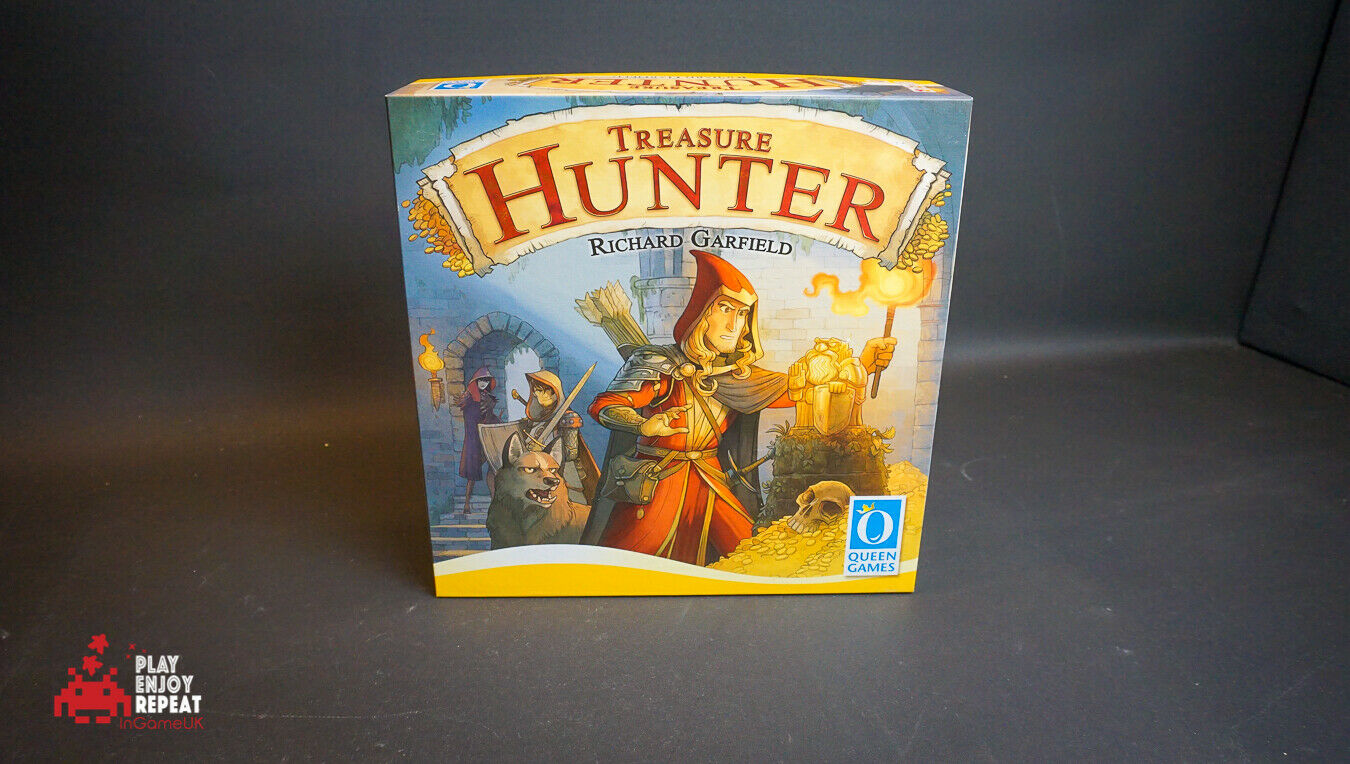 Queen Games Treasure Hunter Boardgame VGC FAST AND FREE UK POSTAGE