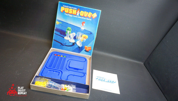 Parker Brothers Push over 1981 board game Good Condition Fast Free UK Postage