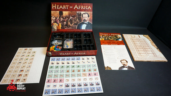 Heart of Africa Board Game  Phalanx Games  2004  UNPUNCHED Strategy Game