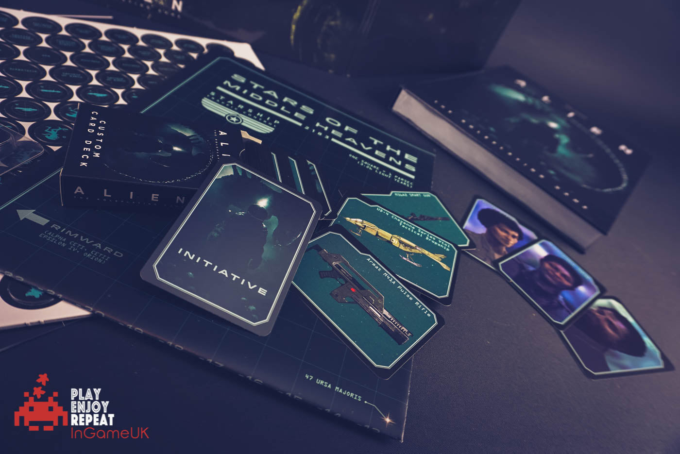 ALIENS Core Rulebook, Custom Card Deck, Dice and Chariots of the Gods Bundle!