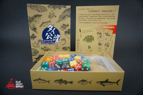 Dice Fishing Roll and Catch! PROMO BOARD GAME Homosapiens Lab