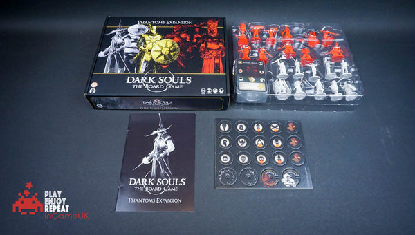 Dark Souls The Board Game Darkroot Basin and Iron Keep Tile set Phantoms and Explorers Expansions
