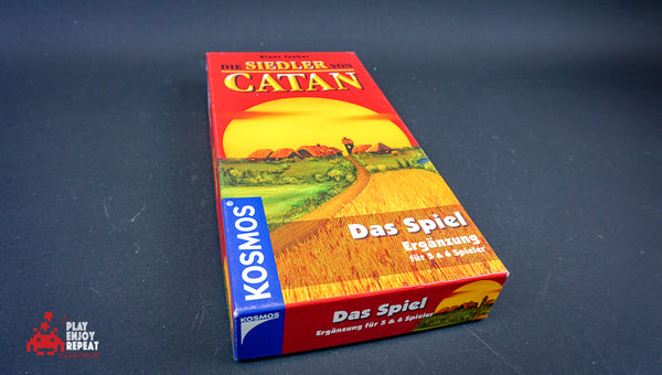 Settlers of Catan 5 and 6 Player Expansion in German (Printed English Rules)