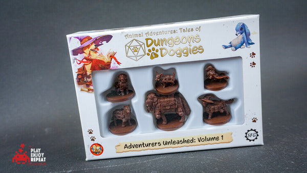 Dungeons and Doggies Volume 1, 2, 3 BUNDLE Adventurers Unleashed D&D