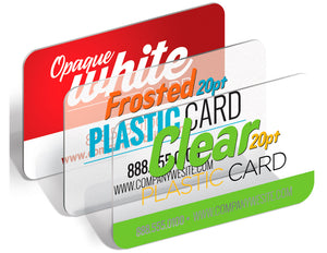 We Just Print Plastic Business Cards