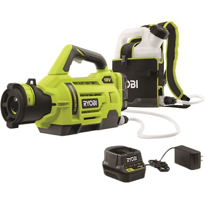 RYOBI ONE+ 18-Volt Lithium-Ion Cordless Electrostatic 1 Gal. Sprayer with Two 2.0 Ah Battery and Charger Included