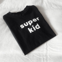 Load image into Gallery viewer, Organic Cotton Black Super Kid Tee